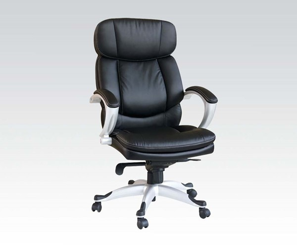 Minta Standard Black PU Metal Office Chair W/Pneumatic Lift ACM-09768