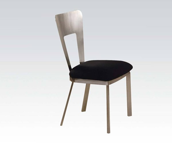 2 Camille Casual Black Fabric Metal Side Chairs ACM-10093