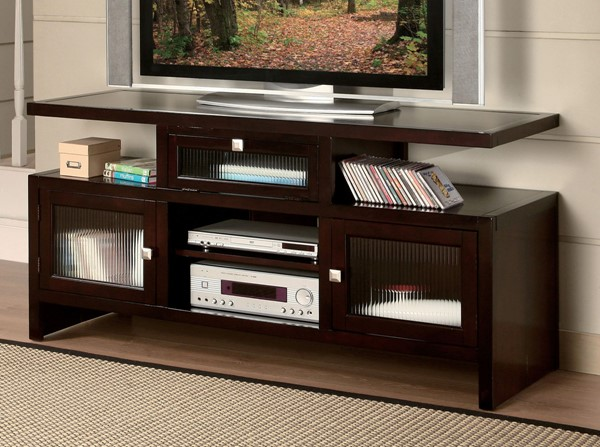 Acme Furniture Jupiter Espresso Folding TV Stand ACM-10122