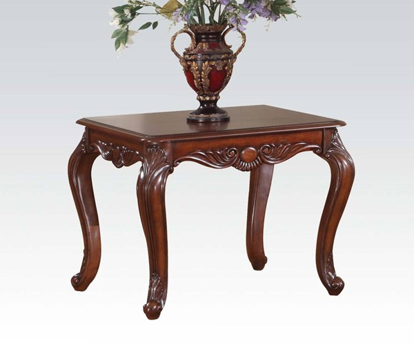 Birmingham Traditional Brown Cherry Wood End Table ACM-10241