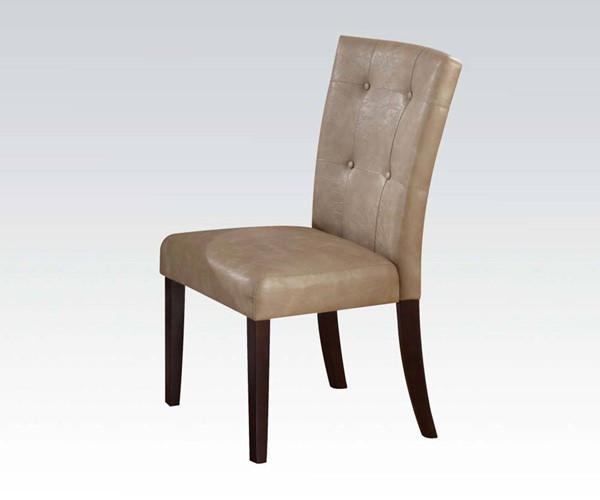Britney Transitional Cream Walnut Tufted Back Dining Chairs ACM-10280-DR