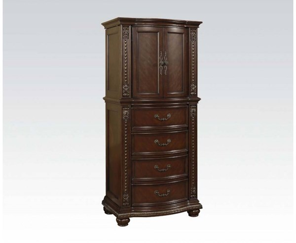 Anondale Traditional Cherry Wood Hidden Jewelry Storage Lingerie Chest ACM-10319
