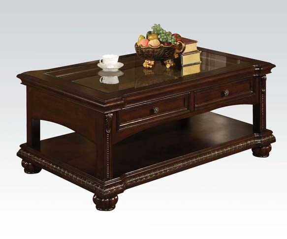 Anondale Traditional Brown Cherry Wood Coffee Table ACM-10322