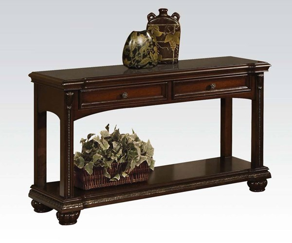 Anondale Traditional Brown Cherry Wood Sofa Table ACM-10324