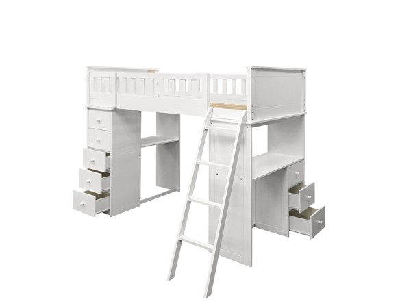 Acme Furniture Willoughby White Loft Bed ACM-10970A