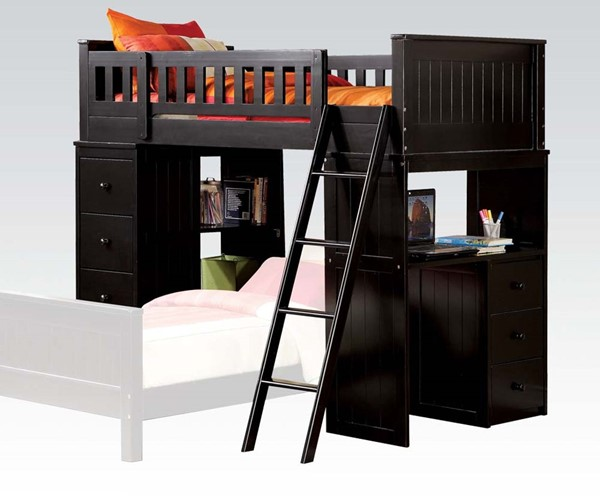 Willoughby Classic Black Loft Bed ACM-10980A