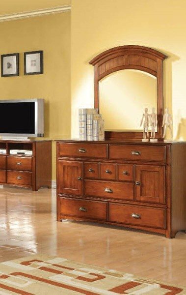 Brandon Traditional Oak Wood Drawer Dresser ACM-11015