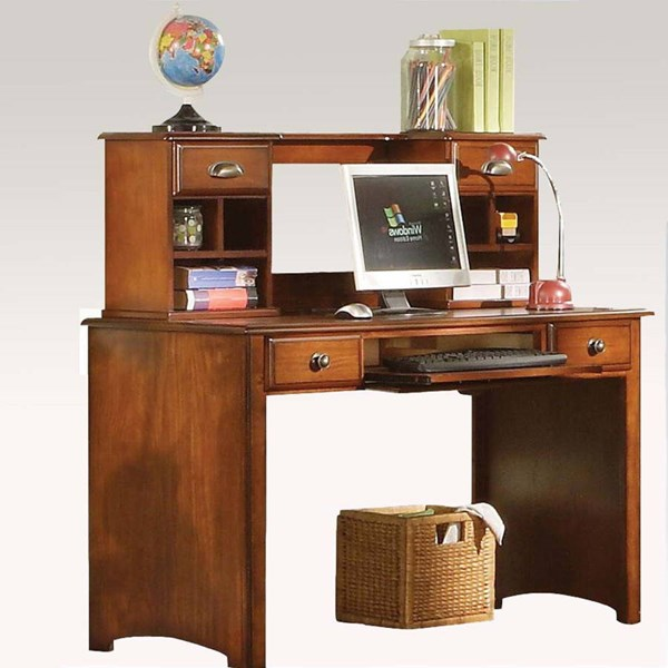 Brandon Traditional Oak Wood Computer Desk W/ Hutch ACM-11018-ACM-11019