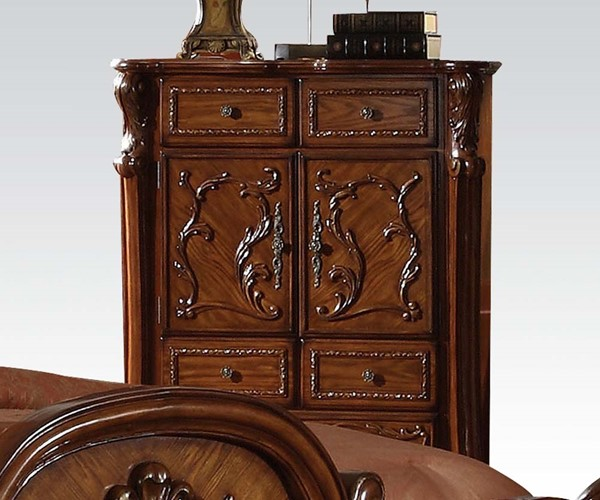 Dresden Traditional Cherry Oak Wood 5 Drawers Chest ACM-12146