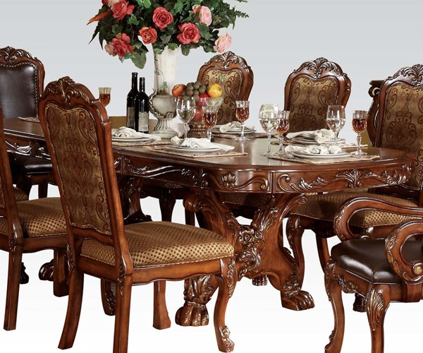 Dresden Traditional Cherry Oak Wood Dining Table ACM-12150