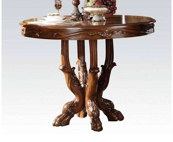 Dresden Traditional Cherry Oak Wood Counter Height Table ACM-12160