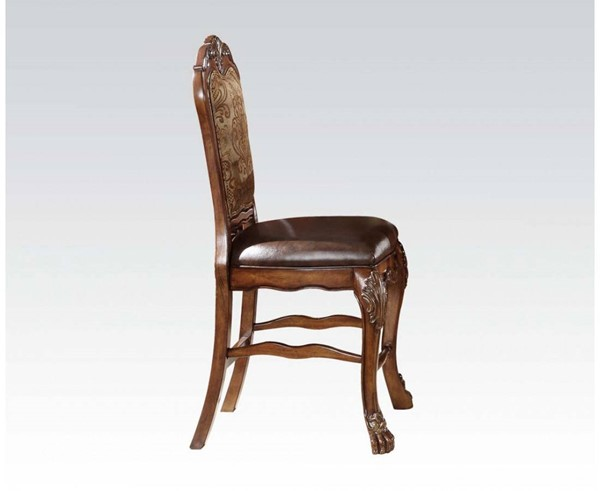 2 Dresden Traditional Cherry Oak Wood Counter Height Chairs ACM-12162