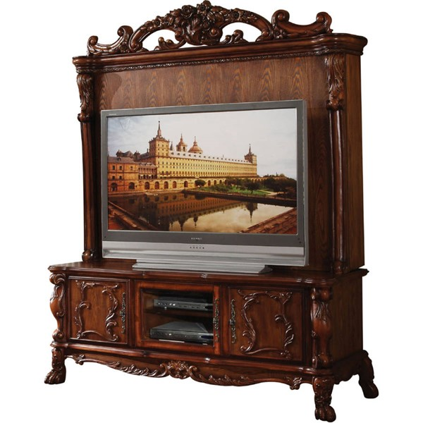 Acme Furniture Dresden Cherry Oak Entertainment Center ACM-12163