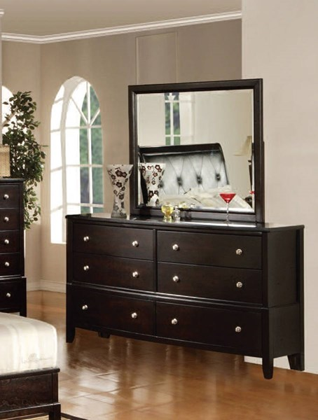 Oxford Contemporary Espresso Wood Dresser W/Drawers ACM-14305
