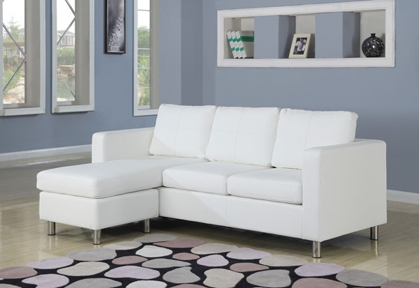 Acme Furniture Kemen White Reversible Chaise Sectional ACM-15068