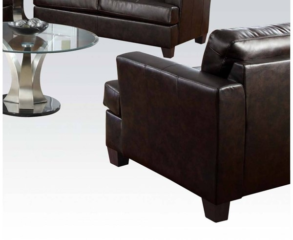 Platinum Contemporary Bonded Leather Wood Chairs & Ottoman Sets ACM-1509-CHO-VAR