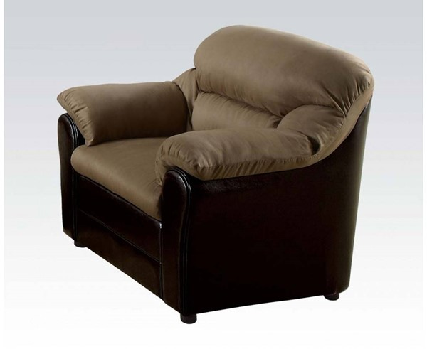 Connell Casual Saddle Espresso Fabric PU Chair ACM-15142