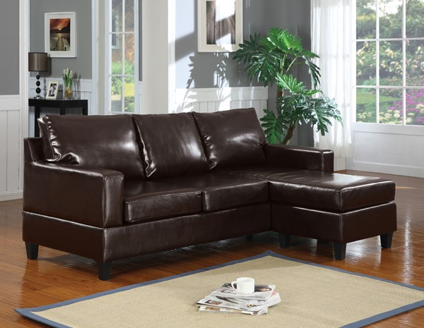 Acme Furniture Vogue Espresso Reversible Chaise Sectional ACM-15915