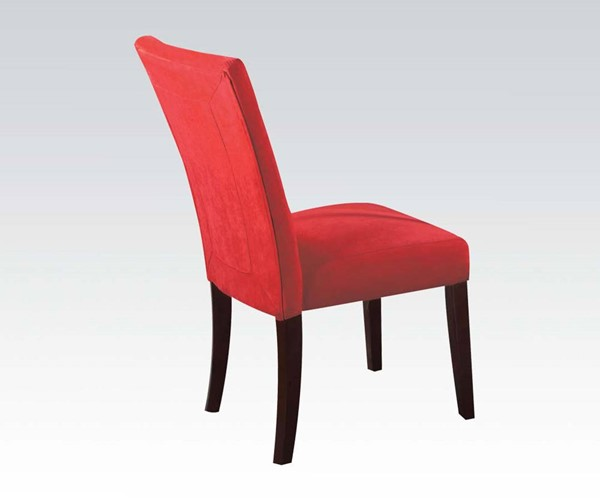 2 Baldwin Casual Red Walnut Fabric Wood Solid Back Armless Side Chairs ACM-16835