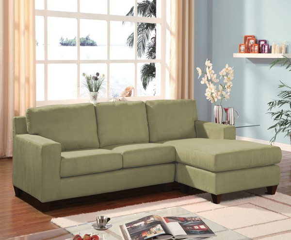 Acme Furniture Vogue Sage Reversible Chaise Sectional Sofa ACM-16915