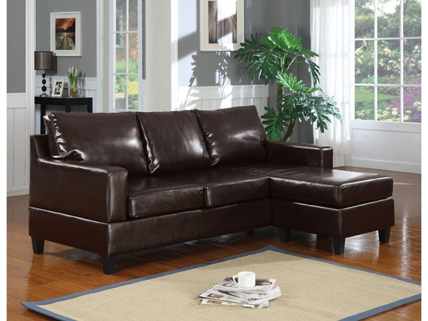 Acme Furniture Vogue Espresso Reversible Chaise Sectional Sofa ACM-16925