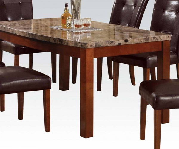 Bologna Transitional Brown Cherry Marble Wood Arc Dining Table ACM-17062