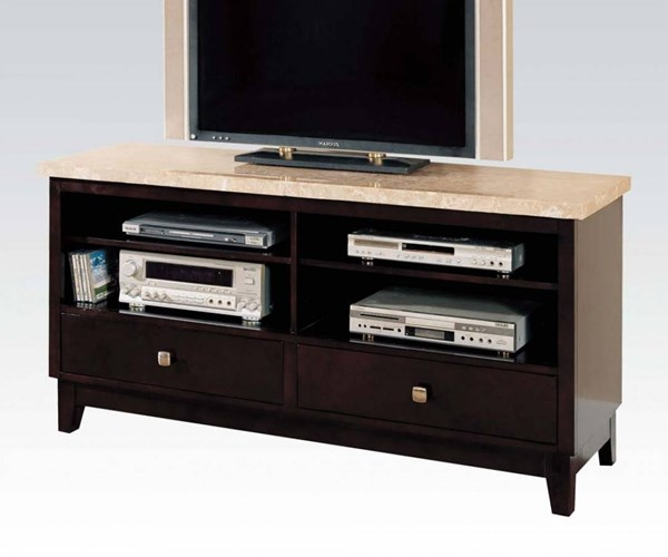 Britney White Walnut China Marble MDF Birch Hardwood TV Stand ACM-17093B