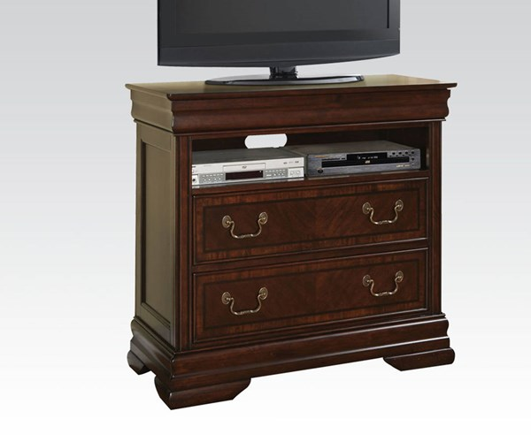 Hennessy Brown Cherry Wood TV Console W/Drawer & Open Compartment ACM-19457