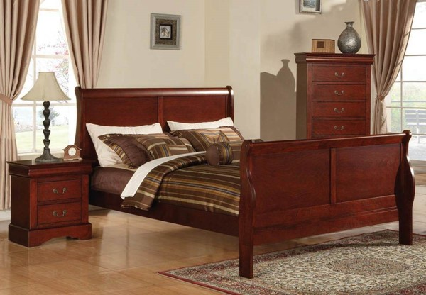 Louis Philippe III Casual White Wood Beds ACM-24494-BEDS