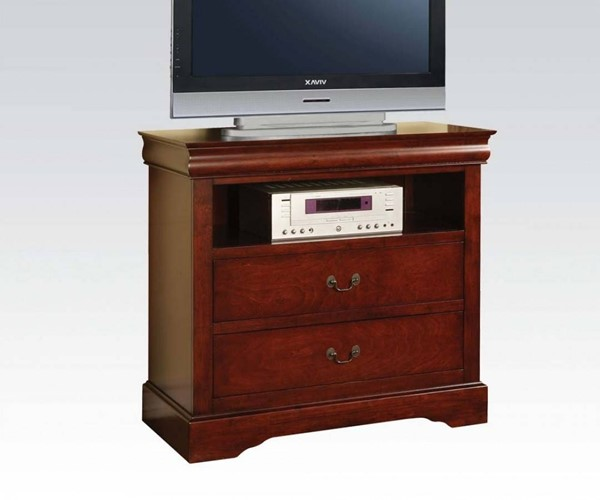 Louis Philippe III Traditional Cherry Wood TV Console ACM-19527