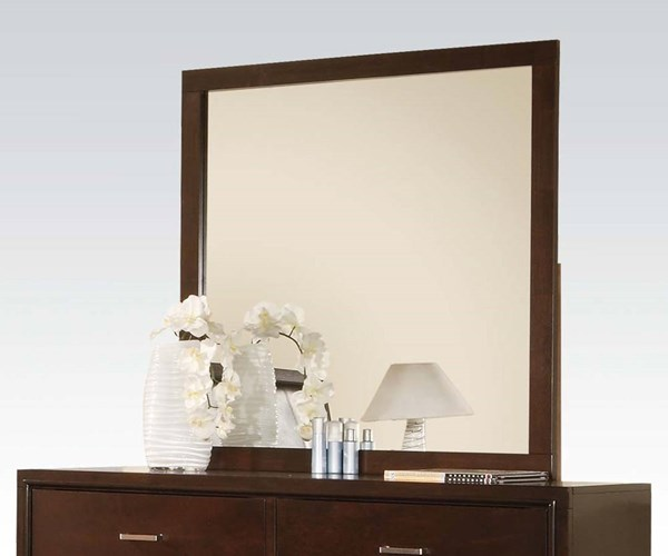 Tyler Contemporary Cappuccino Wood Glass Mirror ACM-19544