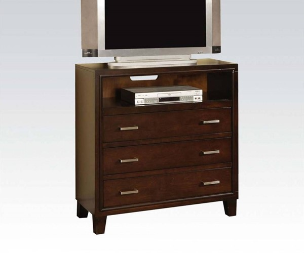 Tyler Contemporary Cappuccino Wood 3 Drawers TV Console ACM-19547