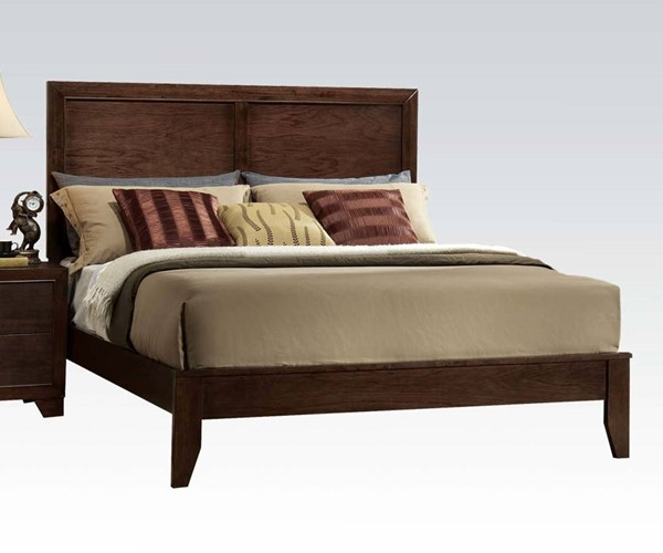Madison Contemporary Brown Wood Platform Beds ACM-19564-BED-VAR