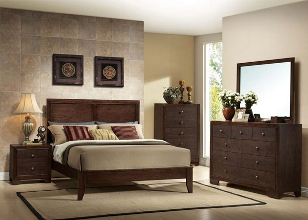 Madison Casual Espresso Wood 2pc Bedroom Set W/King Bed ACM-19564S2