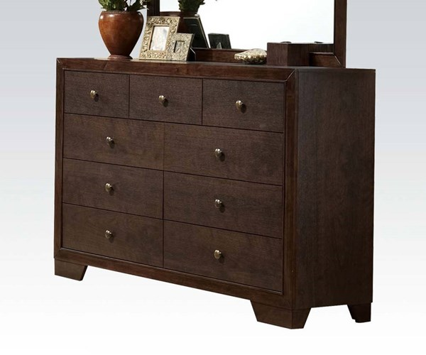 Madison Casual Espresso Wood Multiple Drawers Dresser ACM-19575