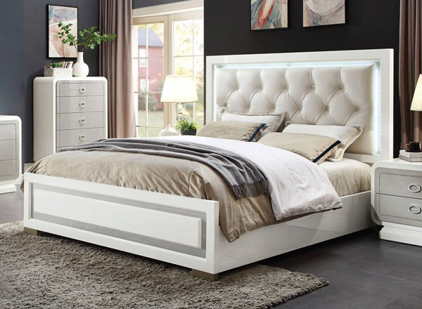 Acme Furniture Allendale Ivory Queen Bed ACM-20200Q
