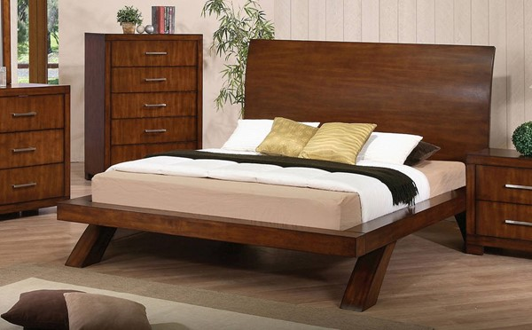 Galleries Transitional Oak Wood King Bed ACM-20227EK