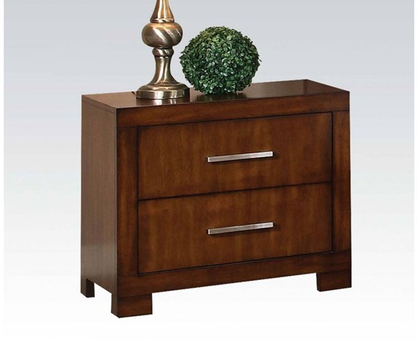Galleries Transitional Oak Wood Nightstand ACM-20233