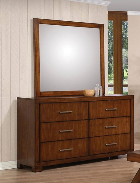 Galleries Traditional Oak Wood Glass Dresser And Mirror ACM-20234-35