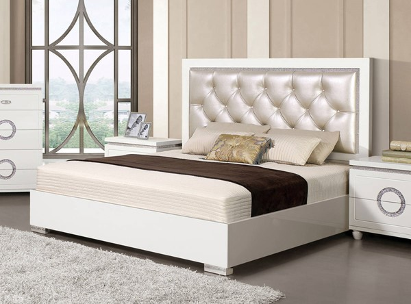 Acme Furniture Vivaldi White King Bed ACM-20237EK