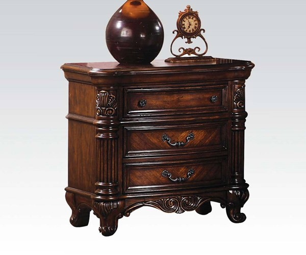 Remington Traditional Brown Cherry Wood Nightstand ACM-20273