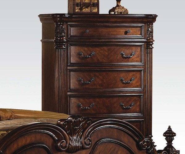 Remington Traditional Brown Cherry Wood Chest ACM-20276