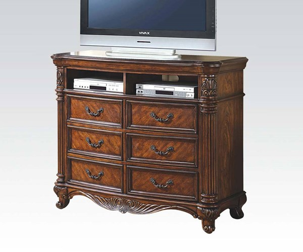 Remington Traditional Brown Cherry Wood TV Console ACM-20277