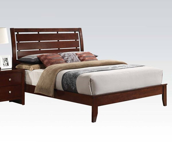 Ilana Contemporary Brown Cherry Wood King Beds ACM-20397EK-400Q
