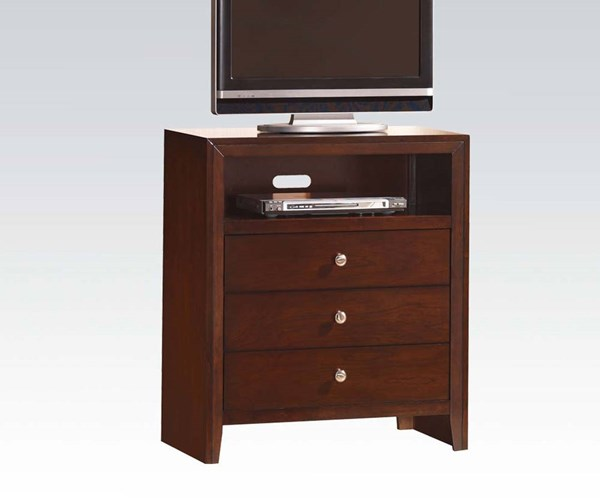Ilana Contemporary Brown Cherry Wood TV Console ACM-20407