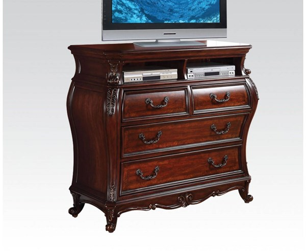 Dorothea Classic Cherry Wood 4 Drawers TV Console ACM-20597