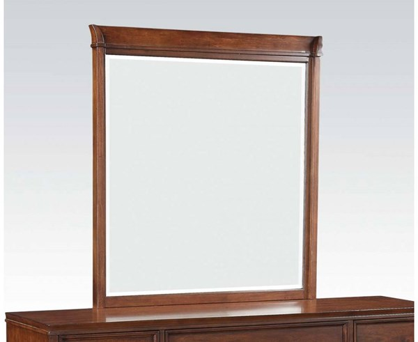 Midway Transitional Cherry Wood Beveled Glass Mirror ACM-20984