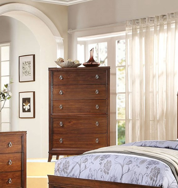 Midway Transitional Cherry Wood 5 Drawers Chest ACM-20987