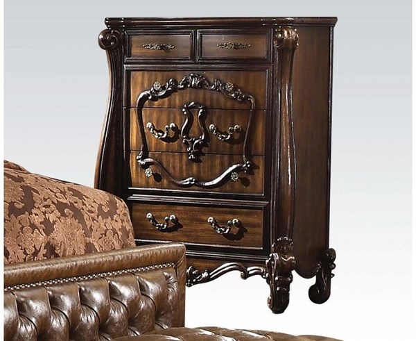 Versailles Traditional Cherry Oak Wood Chest ACM-21106