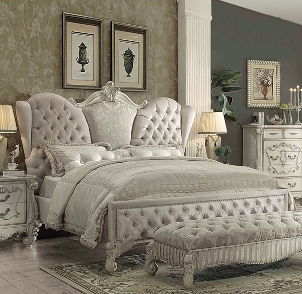 Acme Furniture Versailles Ivory King Bed The Classy Home